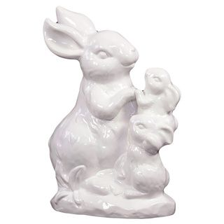 White Ceramic Rabbit Urban Trends Collection Accent Pieces
