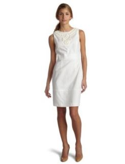 Maggy London Women's Stretch Linen Dress, Charming Pearl, 0