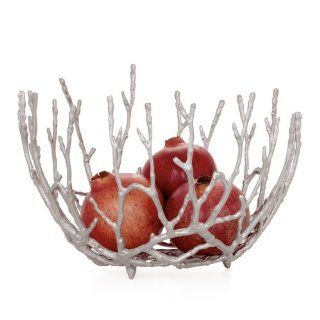 Torre & Tagus Twig Bowl, Silver, Large   Decorative Bowls