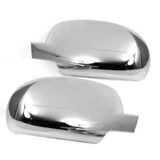 Triple Chrome Side Door Mirror Cover Trims Moulding for 07 11 Chevy Chevrolet Avalanche Silverado Suburban Tahoe GMC Sierra Yukon Cadillac Escalade 2007 2008 2009 2011 Brand NEW On Sale with 3m Adhesive Tape Automotive