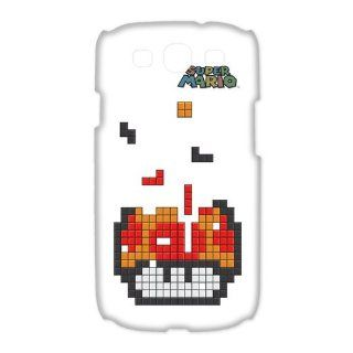 Funny Cartoons Anime Nintendo Game Super Mario Mushroom Tetris Samsung Galaxy S3 I9300/I9308/I939 Personalized Hard Plastic Case Cover (White) Electronics