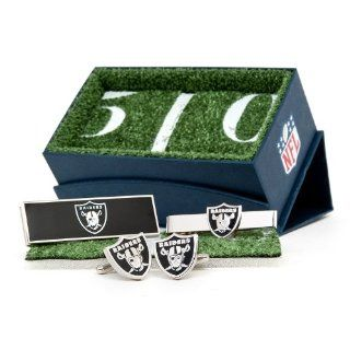 NFL Oakland Raiders 3 Piece Gift Set  Cuff Links  Sports & Outdoors