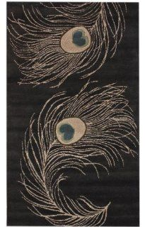 "Contemporary 7' 6"" x 9' 6"" Charcoal Hand Tufted Area Rug"