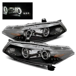 Honda Accord Coupe Black CCFL Halo Projector Headlights /w Amber Automotive