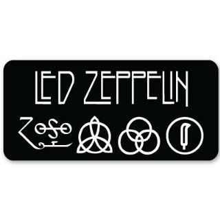 "Led Zeppelin heavy metal ZOSO sticker decal 5"" x 3""  Other Products"