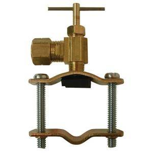 Watts 3/8 in. Brass Compression Self Tapping Saddle Valve LFA 141