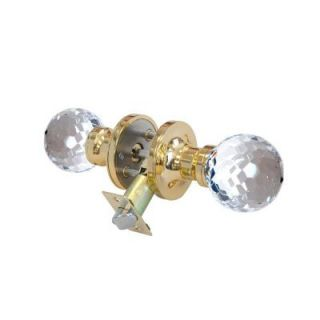 Krystal Touch of NY Honeycomb Crystal Brass Privacy Door Knob with LED Mixing Lighting Touch Activated DL3611BPRI