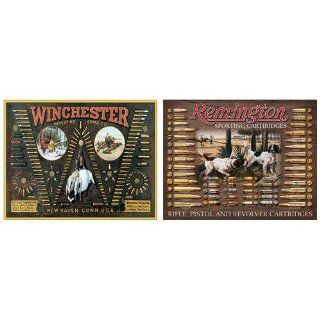 Nostalgic Bullet Board Tin Metal Sign Bundle   2 retro signs Winchester Bullet Board, Remington Bullet Board 0010   Decorative Signs