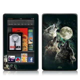 Kindle Fire Skin Kit/Decal   Three Wolf Moon   Antonia Neshev (will not fit HD or HDX models) Kindle Store