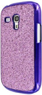 MPERO Collection Hot Pink Sparkling Glitter Slim Fit Glam Case for Samsung Galaxy S3 Mini / S III Mini I8910 Cell Phones & Accessories