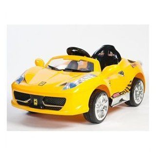 Ferrari 458 Italia Style Kids 12V Battery Power Wheels Ride On Car  RC Remote Upgraded With 2 Motors & 2 Speeds Toys & Games