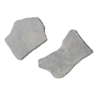 Nantucket Pavers 20 in. and 21 in. Irregular Concrete Blue Variegated Stepping Stones Kit (20 Piece) 52202
