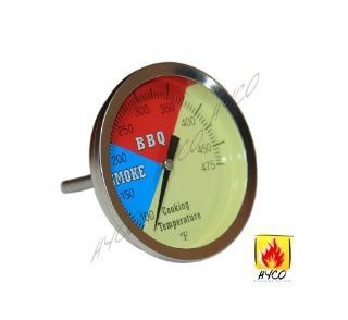 "3"" 475F BBQ CHARCOAL GRILL PIT WOOD SMOKER TEMP GAUGE THERMOMETER 2.5"" STEM SS RWB  Natural Gas Grill Parts  Patio, Lawn & Garden"