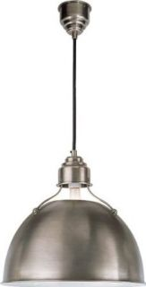 Visual Comfort and Company TOB5013AN Thomas Obrien Eugene 1 Light Pendants in Antique Nickel   Ceiling Pendant Fixtures