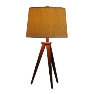 Hampton Bay Tripod Table Lamp Dark Brown Wood Finish 18157 000