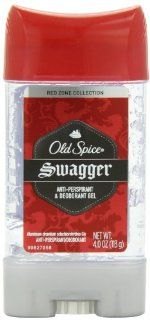Old Spice Red Zone Collection Swagger Scent Men's Anti Perspirant & Deodorant Gel 4 Oz Health & Personal Care
