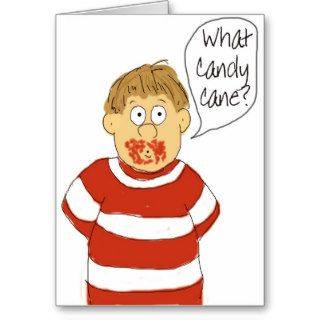 Merry Christmas Humor Funny Candy Cane Card