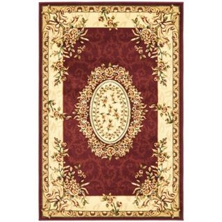 Safavieh Lyndhurst Collection Aubussons Red/ Ivory Rug (4' x 6') Safavieh 3x5   4x6 Rugs