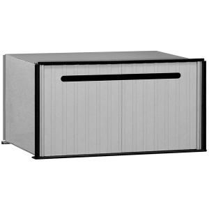 Salsbury Industries 2200 Series Aluminum Drop Box with 1 Compartment 2280