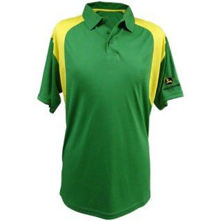 John Deere Poly Performance Green Polo   13590029GR   Home And Garden Products