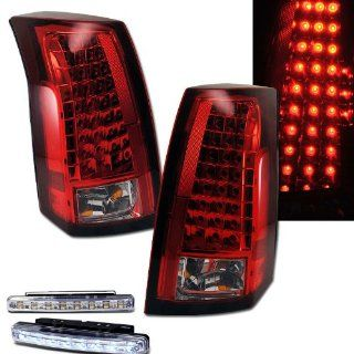 2003 2007 CADILLAC CTS SEDAN REAR BRAKE TAIL LIGHTS RED/CLEAR+LED BUMPER RUNNING Automotive