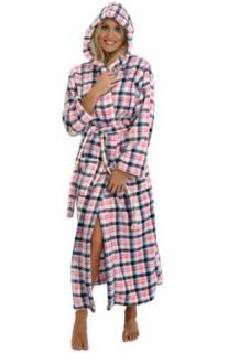 Del Rossa Women's Fleece Full Length Hooded Bathrobe Robe