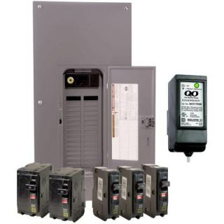 Square D by Schneider Electric QO 200 Amp 30 Space 40 Circuit Indoor Main Breaker Load Center with Cover Value Pack with Surge Breaker SPD QO3040M200VPSB