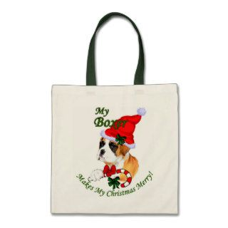 Boxer Christmas Gifts Canvas Bags