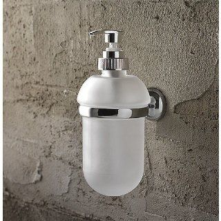 Toscanaluce Wall Mounted Round Frosted Glass Soap Dispenser 1523   Countertop Soap Dispensers