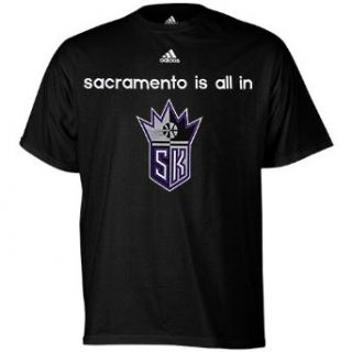 adidas Sacramento Kings NBA Draft All In T Shirt   Black  Sports Fan Apparel  Sports & Outdoors