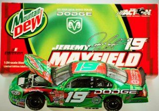 Action   10th Anniversary   NASCAR   Jeremy Mayfield #19   2002 Dodge Intrepid R/T   Dodge / Mountain Dew Paint   11,508 Produced   Out of Production   124 Scale   Die Cast   Limited Edition   Collectible Toys & Games