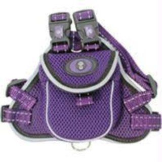Hamilton Pet Company Soft Mesh Dog Harness With Backpack  Purple Small  Pet Halter Harnesses