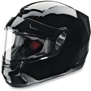 Z1R Venon Solid Helmet with Dual Lens Shield , Size 2XL, Primary Color Black, Distinct Name Black, Helmet Type Full face Helmets, Helmet Category Snow, Gender Mens/Unisex 0121 0383 Automotive