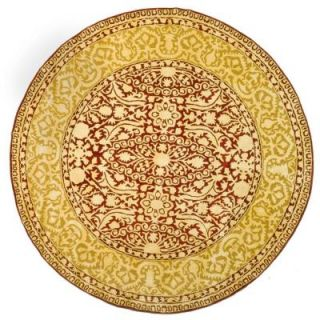 Safavieh Silk Road Maroon and Ivory 3 ft. 6 in. x 3 ft. 6 in. Round Area Rug SKR213G 4R