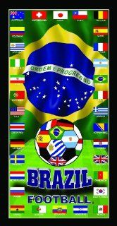 Mexico and Ecuador Soccer World Cup Team Flag Soccer World Cup 2014 Soccer Wonder Beach Towel