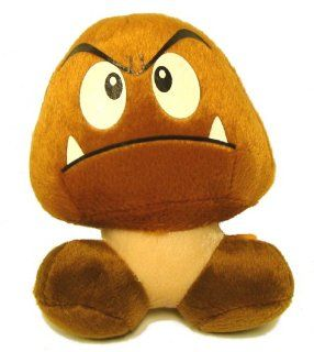 "Super Mario Brothers Goomba Plush 5"" Toys & Games"