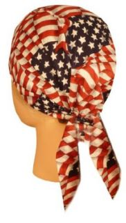 No Tail Stars & Stripes USA American Flag Skull Cap Bandana Clothing