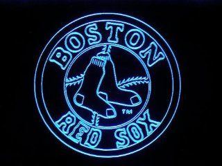 MLB   Boston Red Sox Team Logo Neon Light Sign  Baseballs  Sports & Outdoors