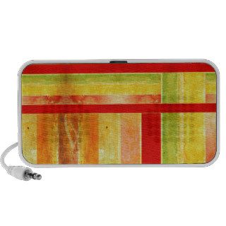 Warm Earthtone Color Scheme abstract stripes Notebook Speaker