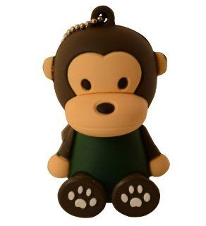 Cute Black Monkey Sitting Milo Keychain Animal Collection 4GB USB Flash Drive   in Gift box   with GadgetMe Brands TM Stylus Pen and comes in GadgetMe retail packaging Computers & Accessories