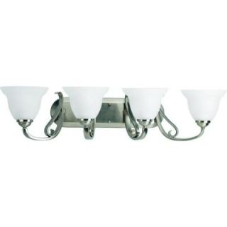Progress Lighting Torino Collection Brushed Nickel 4 light Vanity Fixture P2884 09