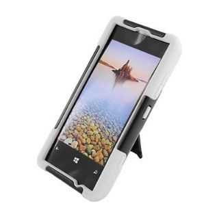 For T Mobile Nokia Lumia 521 Windows Phone 8 Hybrid Case White Black Y Stand