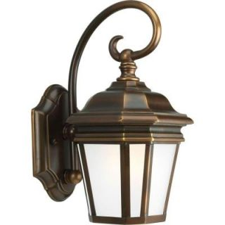 Progress Lighting Crawford Collection Wall Mount Outdoor Oil Rubbed Bronze Lantern P5685 108