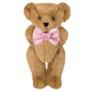 "15"" ""It's a Girl"" Bowtie Teddy Bear   Honey Fur Toys & Games"
