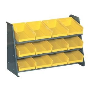 Edsal Heavy Duty Steel Pick Rack with 12 plastic bins 35 in. Width x 12 in. Depth x 22 in. Height PB313