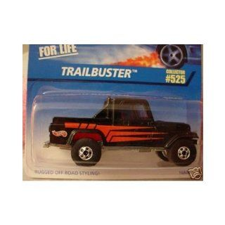 Mattel Hot Wheels 1997 164 Scale Black Trailbuster Die Cast Car Collector #525 Toys & Games