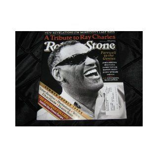 Rolling Stone Magazine (Ray CharlesA Tribute To, Jim Morrison's Last days, Summer Double Issue, July 8 22, 2004) Ray Charles Books