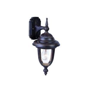 Acclaim Lighting Monterey Collection Wall Mount 1 Light Outdoor Black Coral Light Fixture 3501BC