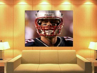 XD5538 Tom Brady New England Patriots NFL Football Sport HUGE GIANT WALL POSTER   Sports Fan Prints And Posters
