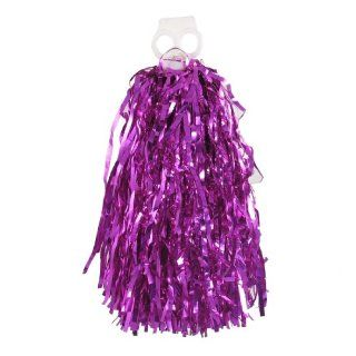 Fuchsia Tinsel Cheer Dance Cheerleading Handle Pom Poms Cheer Pompons   Christmas Wreaths